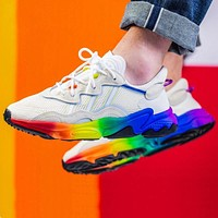 Adidas Ozweego Popular Women Men Personality Rainbow Soles Sport Shoes Sneakers