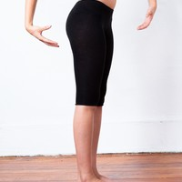 Capri Stretch Knit Low Rise Tights Leggings Peddle Pusher Yoga & Dance High Quality Made In USA