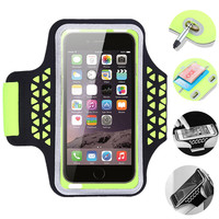 Haissky Sport Arm Band Case Waterproof Lycra Wrist Band Holder For iPhone 6 /6 plus For Samsung Galaxy S6 / S7 / S7 edge