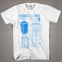 POLICE BOX  Mens and Women T-Shirt Available Color Black And White
