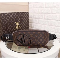 LV Louis Vuitton SUPREME MONOGRAM CANVAS WAIST PACK CROSS BODY BAG