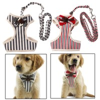 Ajustable Chest Dog Harnesses Lead Leash
