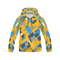 Blue yellow shapes All Over Print Hoodie for Men (USA Size) (Model H13) | ID: D1438600
