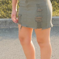 Darci Distressed Skirt