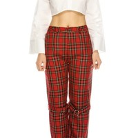 Mona Plaid Trouser Pant