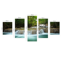 Waterfall Painting Canvas Wall Art Picture Home Decoration Living Room Print Painting-Large Canvas Art Unframed