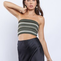 Sparkling Stripes Tube Top