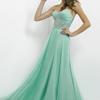 2014 Empire Sweetheart Apple Green Long Prom Dress with Beading Style SBUL069,Unique Prom Dresses