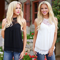 New Fashion Women Ladies Vest Sleeveless Shirt Camis Summer Casual Loose Lace Tops