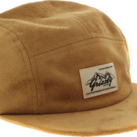 GRIZZLY THE ROCKIES SUEDE 5-PANEL HAT ADJ-BROWN