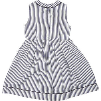 Shadow-Stripe Satin Dress