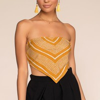 Sunset Walk Handkerchief Top - Honey