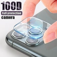 100D Camera Protection Glass For iPhone SE 2020 11 Pro XS Max XR X Full Cover Lens Screen Protector For 7 8 Plus Tempered Glass