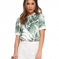 Banana Leaf Print Short Sleeve T-shirt