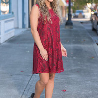 Out For The Night Dress, Burgundy