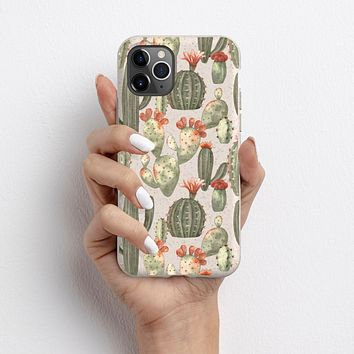 Cute Vintage Cactus Biodegradable Phone Case