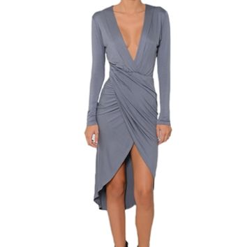 Betsy Moss Adriana Plunging V Dress | ShopAmbience