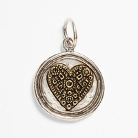 Women's Waxing Poetic 'Wing and a Prayer - Heart' Charm - Silver And Brass Heart