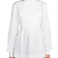 Fendi - Stretch Cotton Poplin Shirt - Saks Fifth Avenue Mobile