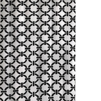 Chained Circle Shower Curtain Black/White
