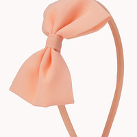 FOREVER 21 Classic Bow Headband Salmon One