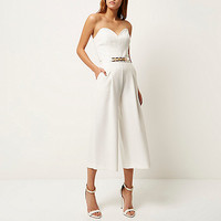 Cream smart embellished culotte jumpsuit - jumpsuits - rompers / jumpsuits - women
