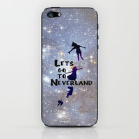 Lets Go To Neverland iPhone & iPod Skin by Amber Rose