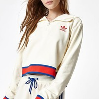 adidas originals embellished arts embroidered semi zipper pullover hoodie