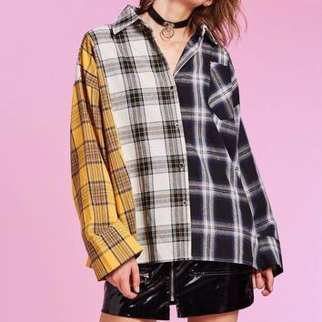 Patched Plaid Shirt