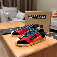 D&G DOLCE & GABBANA Men's Leather NS1 Low Top Sneakers Shoes