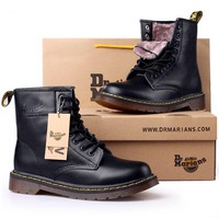 Martin boots winter snow boots Women's Boots high quality split leather men's boots fur warm comfortable shoes Dr. Martins ST324