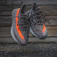 Adidas Grey Orange Yeezy 550 Boost 350 V2  F