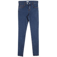 Snap Buttoned Skinny Jeans