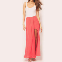 Chiffon Maxi Skirt with Slit