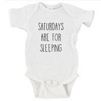 Saturdays are for Sleeping Gerber Onesuit ®
