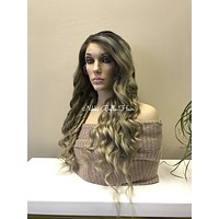Blonde HUMAN HAIR Full Lace Wig - Marie