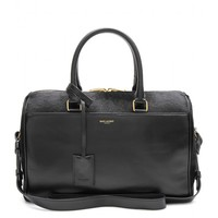 saint laurent - duffle 6 leather and calf hair bowling bag