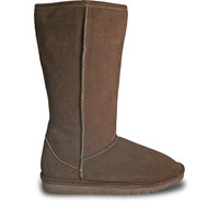 Women's 13-inch Cow Suede Boots - Chocolate