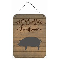 Berkshire Pig Welcome Wall or Door Hanging Prints CK6877DS1216