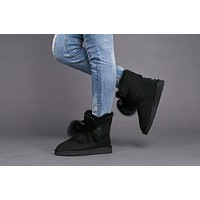 UGG Limited Edition Classics Black Boots GITA Women Shoes 1018517