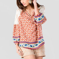 ANABELLE PRINTED BLOUSE
