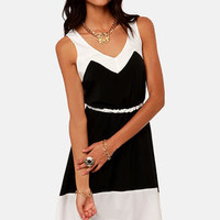 Lucy Love Estelle Black and White Dress