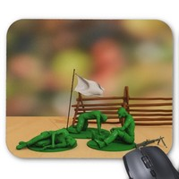 Toy Soldiers Defeated - Anti-War Mousepad