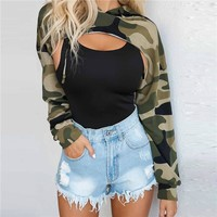 Winter Women's Fashion Hot Sale Camouflage Long Sleeve Hats [498357108782]