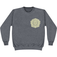 Pierce The Veil Men's  Laurel Sweatshirt Grey Rockabilia