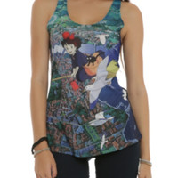 Studio Ghibli Her Universe Kiki's Delivery Service Flying Over City Girls Tank Top