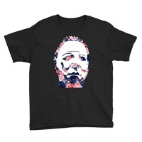 michael myers floral mask Youth Tee