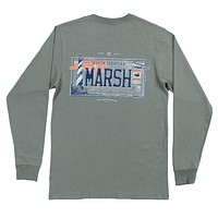 Long Sleeve North Carolina Backroads Collection Tee in Bay Green by Southern Marsh