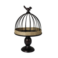 Splendid Metal Bird Cage, Small By Benzara