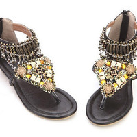 Bead Wedge Sandals for Ladies
